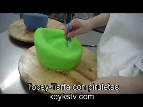 Cómo hacer una tarta Topsy 1