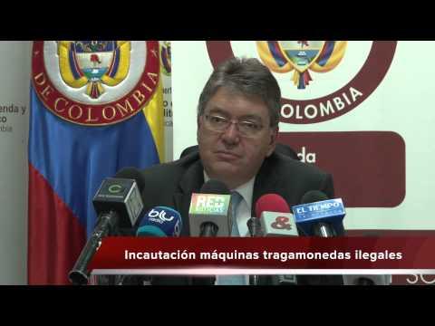 Rueda de prensa sobre cierre fiscal 2013 e Incautación máquinas tragamonedas ilegales