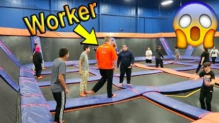BREAKING THE RULES AT SKYZONE!! (WORKERS CAUGHT US)