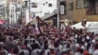 getlinkyoutube.com-平成27年  三社祭り 二之宮 本社神輿「千」町内バトル担ぎ。
