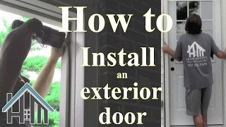 getlinkyoutube.com-How to install an exterior door and jamb. Replace. Easy! The Home Mender.