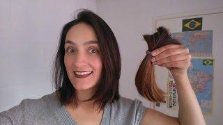getlinkyoutube.com-Como cortar o cabelo sozinha (Corte Long Bob) Amei! Simples e Fácil.