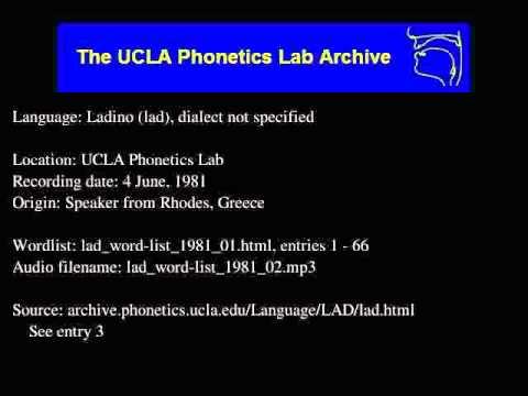 Ladino audio: lad_word-list_1981_02