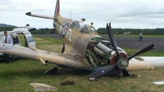 getlinkyoutube.com-Spitfire Crash, Auckland New Zealand