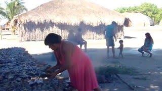getlinkyoutube.com-Brazil...Xingu ..village Indians.  Kamayura...plenty of fishes....