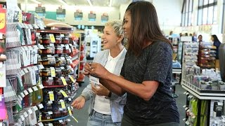 getlinkyoutube.com-Ellen and First Lady Michelle Obama Go to CVS
