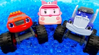 getlinkyoutube.com-Robocar Poli Blaze Monster Machines! Вспыш чудо машинки Крушила Робокар Поли 로보카 폴리