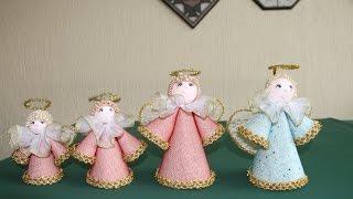 getlinkyoutube.com-Cómo hacer unos ángeles decorativos