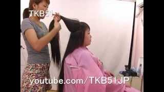 getlinkyoutube.com-Haircut #551 Super Long to BOB  スーパーロングヘア 断髪