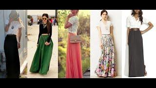 getlinkyoutube.com-Outfits con falda larga
