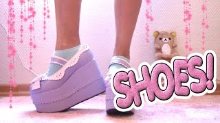 getlinkyoutube.com-Mina skor/klackar! (kollektion) / My shoe collection! ❤️ Kawaii, platform, lolita, demonia, gothic