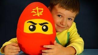 getlinkyoutube.com-Giant Play Doh Surprise Egg Lego Ninjago. Огромное Яйцо Лего Ниндзяго на русском языке. Кока