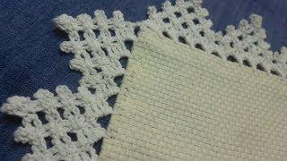 getlinkyoutube.com-Orilla # 10 Triangulos Crochet facil en una sola vuelta