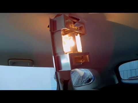 Замена лампы плафона освещения салона Мицубиси Аутлендер