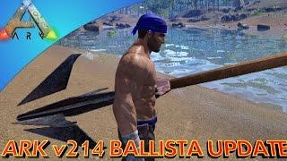 getlinkyoutube.com-Ballistas and Pirate Raft PVP!!! (ARK Survival Evolved Patch 214)