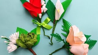 getlinkyoutube.com-diy how to make Easy Paper flowers Corsage / Boutonniere