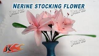 getlinkyoutube.com-DIY How to make stocking flower Nerine  - JK Arts 237