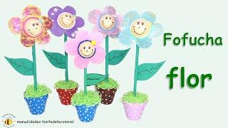 getlinkyoutube.com-Manualidades: Fofucha flor no se necestian patrones / eva rubber flower