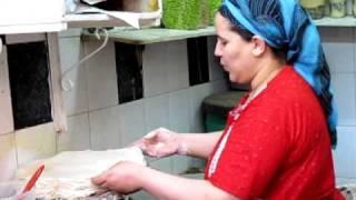 getlinkyoutube.com-Fez, Morocco, Hand Made Phyllo Dough