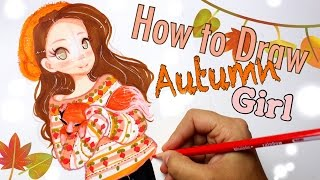 ☕️Autumn Girl with Fox || TUTORIAL🍁 #FALLSERIES☕️