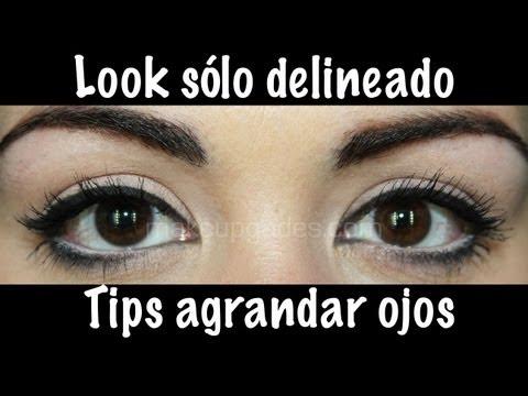 Look sólo Delineado + Tips para agrandar los ojos