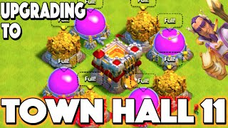 getlinkyoutube.com-Clash of Clans - UPGRADING TO TOWN HALL 11! 100% Maxed Out Town Hall 11 + Maxed Grand Warden & Witch