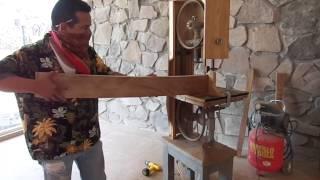 getlinkyoutube.com-Sierra Cinta para corte de madera 100% casera 1 - Cortes de muestra