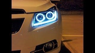 getlinkyoutube.com-Chevrolet Cruze - Double Angel Eyes Far