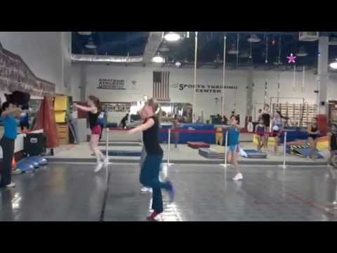 Beginning aerobic gymnastics