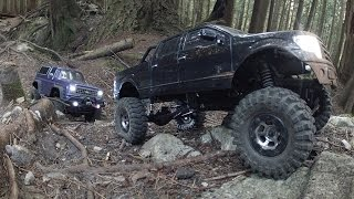 getlinkyoutube.com-axial scx10, chevy K5 blazer, ford f150 - Danger Pending