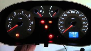 getlinkyoutube.com-Cambio de iluminación en LEDs blancos tablero de instrumentos Renault Tacómetro