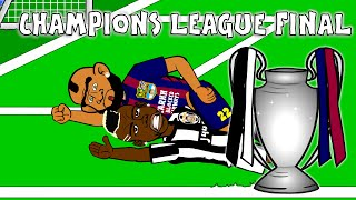 UCL CHAMPIONS LEAGUE FINAL 2015 HIGHLIGHTS CARTOON!!! Goals Juventus 1-3 Barcelona