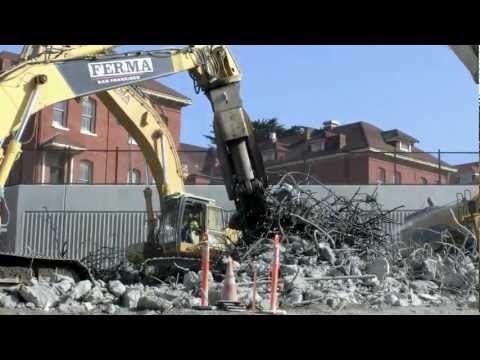Highway 101 Construction & Rebuilding in 1080p HD at San Francisco, CA (April 2012)