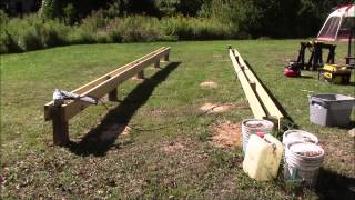 getlinkyoutube.com-Post & beam foundation @ the off grid homestead part 1