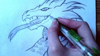 getlinkyoutube.com-How to draw a dragon step by step for beginners!!:)