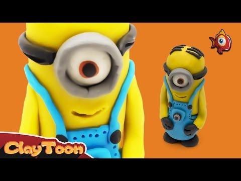 Minions - Polymer clay tutorial | شخصية مينيون الكارتونية - تشكيل صلصال