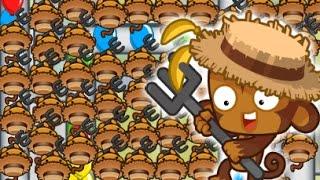 getlinkyoutube.com-Winning With Only Monkey Farmers! Bloons TD Battles (BTD Battles)