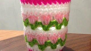 getlinkyoutube.com-How To Crochet a Pretty Candle Holder Tulip Pattern - DIY DIY Tutorial - Guidecentral