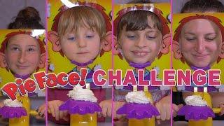 getlinkyoutube.com-[CHALLENGE] Pie Face Challenge avec Cousines - Studio Bubble Tea unboxing Pie Face Game