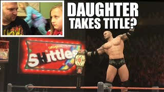 getlinkyoutube.com-Randy Orton vs Grim WWE 2K16 Dad vs Daughter Youtube Championship Title Match PS4 Gameplay!