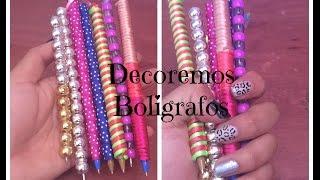 getlinkyoutube.com-DIY DECORA TUS BOLIGRAFOS/PLUMAS |Brenda PE|