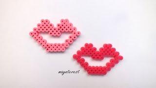 getlinkyoutube.com-LABIOS de hama beads (perler beads)
