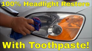 getlinkyoutube.com-Headlight Lens Restore using Toothpaste!