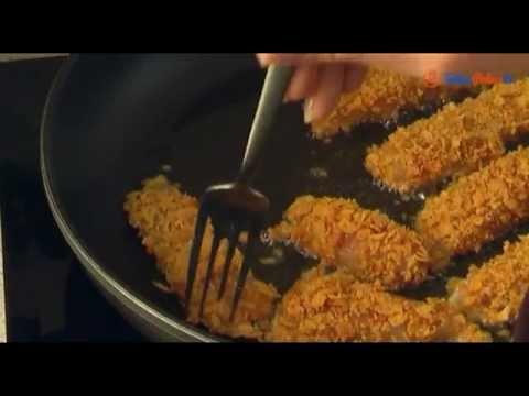 Nugetsy z kurczaka w płatkach kukurydzianych