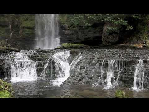 MEDITATION Tranquil Waterfall-Relax-Calming Nature Sounds-Bird Song-Dripping Water
