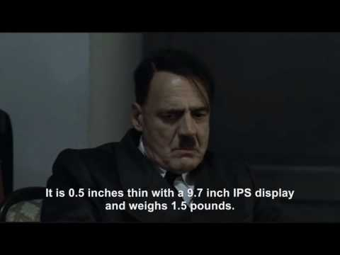 Hitler is informed and rants about the Apple iPad