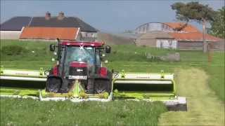 getlinkyoutube.com-Case 230 puma mowing with class triples sheltons silage 2014 Part One