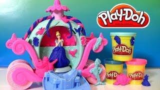 getlinkyoutube.com-Play Doh Magical Carriage Disney Princess Cinderella | Play Doh Brillante con Glitter Carroza Mágica