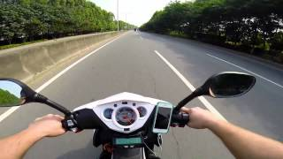 Electric Scooter highspeed test 2 @ 25kw and 140+ km/h