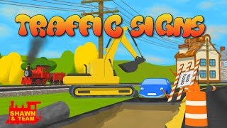 Help Shawn The Train teach the car about traffic signs! (Learn Traffic Signs for Children)